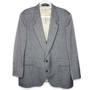 Vintage Johnny Carson Grey Blazer 41 Regular